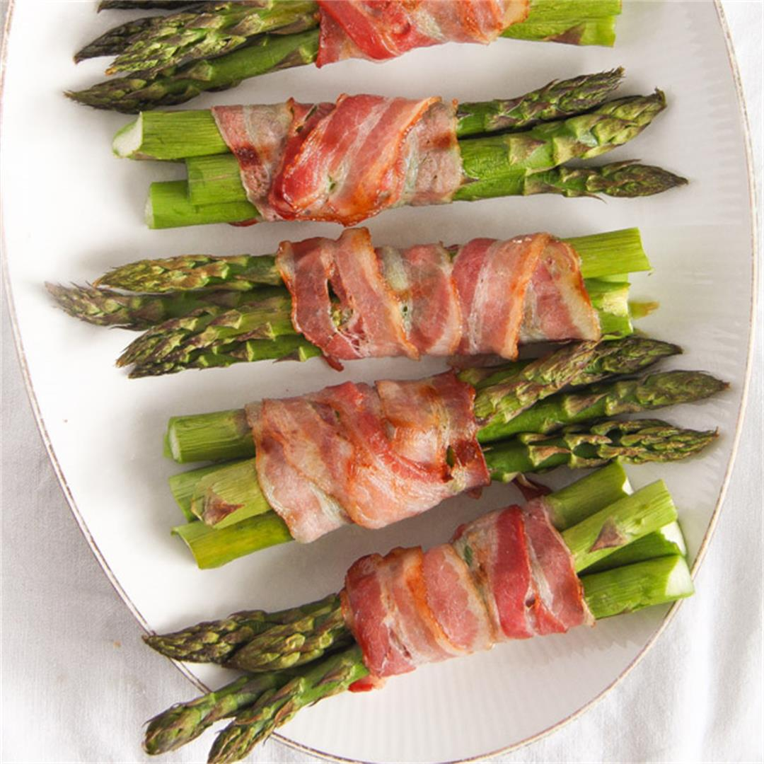 Bacon Wrapped Asparagus - Oven Baked Asparagus Recipe