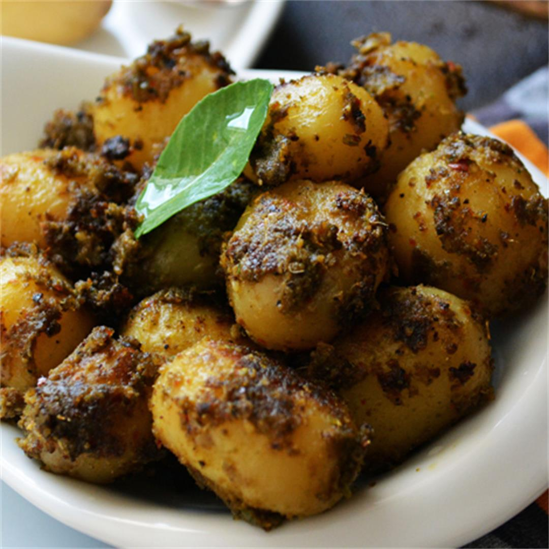 Spicy baby potato fry