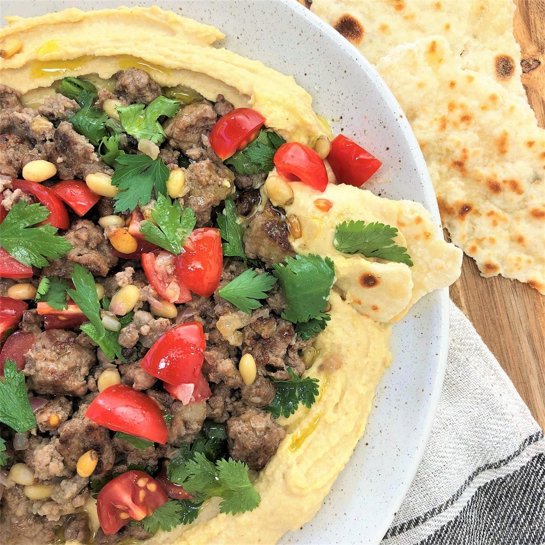 Lamb with Hummus