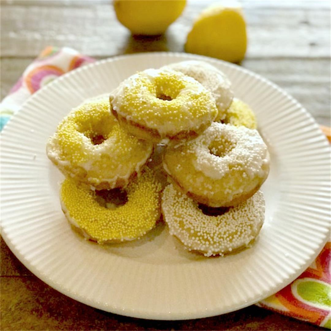 Small Batch Baked Lemon Donuts