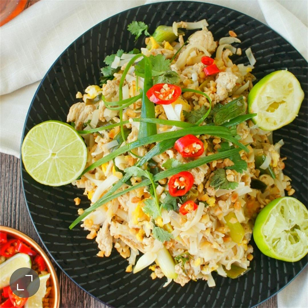 This homemade Pad Thai is an easy and delicious dish!