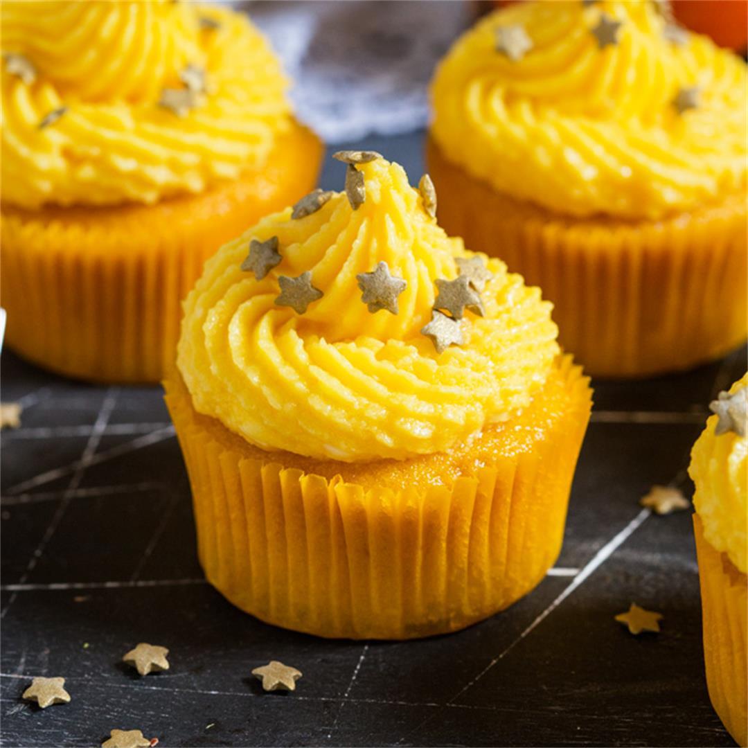 Mango and Pineapple Cupcakes