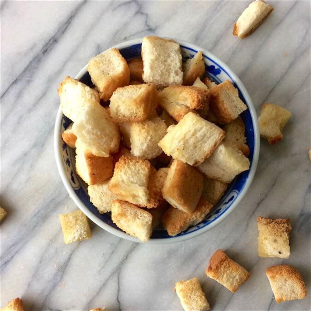 Homemade Croutons & Breadcrumbs