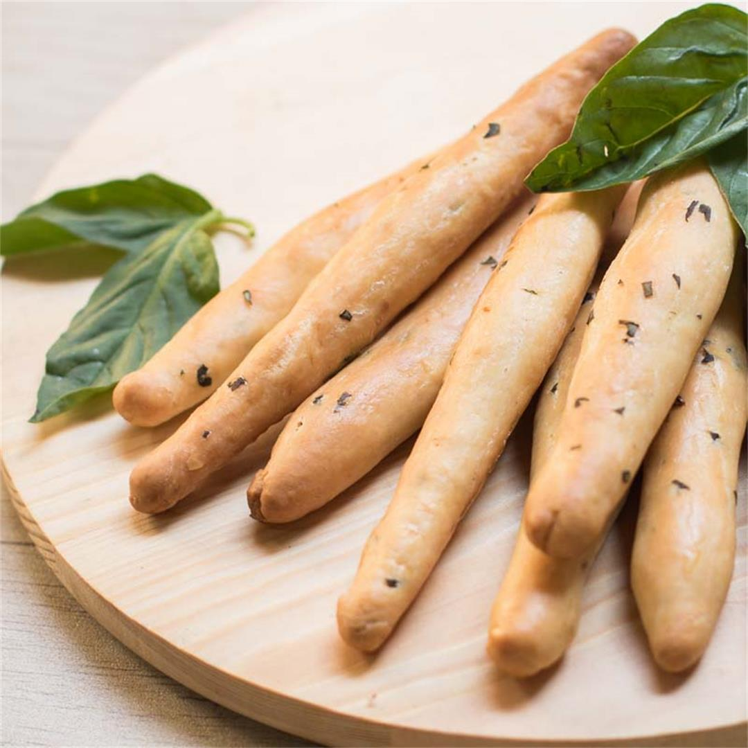 Basil Cheese Bread Sticks
