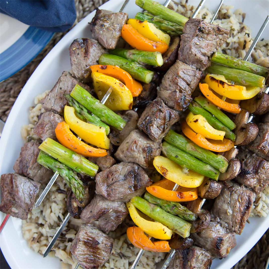 Italian Marinated Steak Kabobs