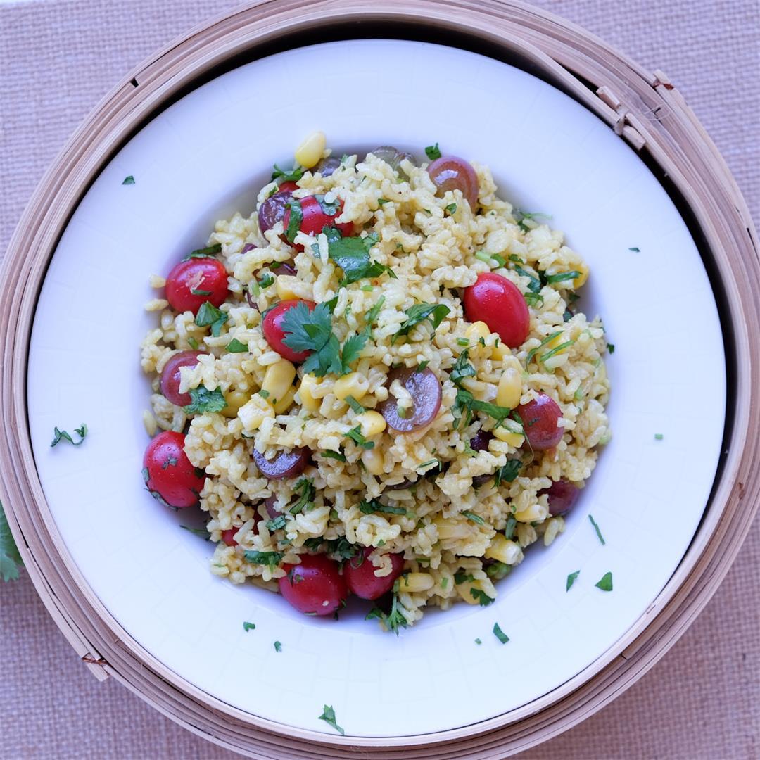 GF Curried Rice Salad