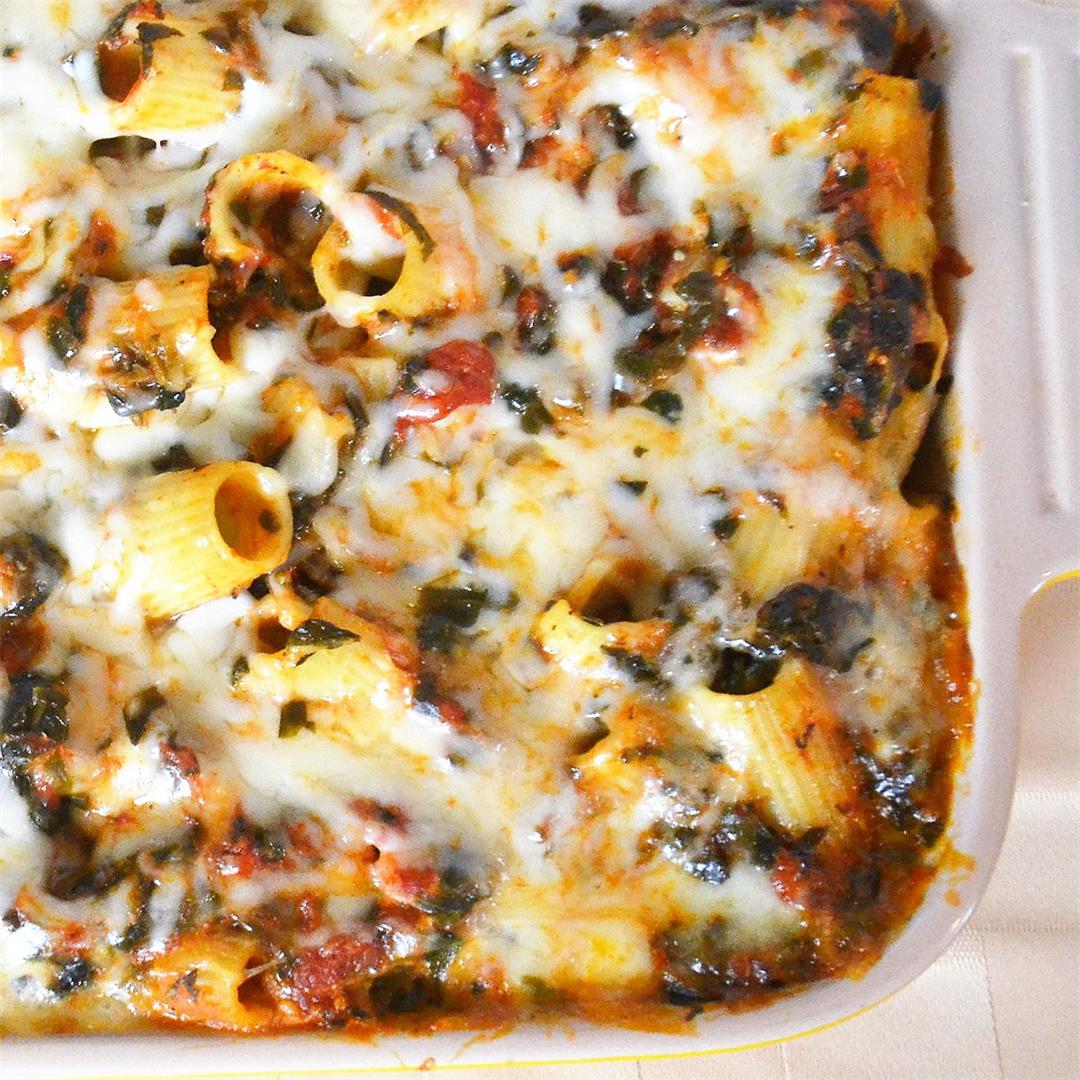 Spinach Baked Rigatoni