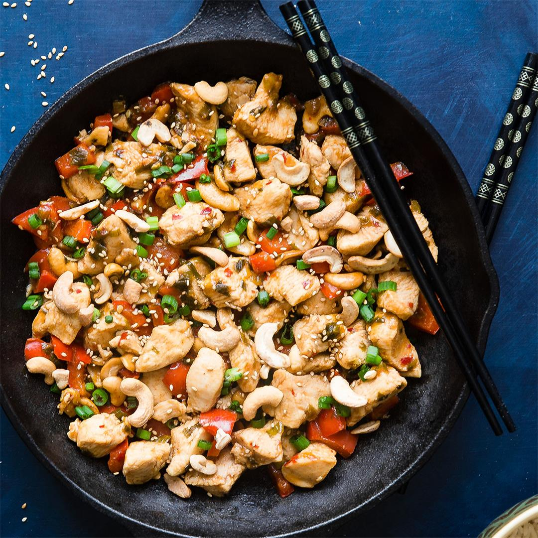 Easy Paleo Cashew Chicken Stir Fry