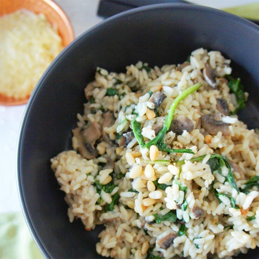 Mushroom and Spinach (vegetarian) Risotto
