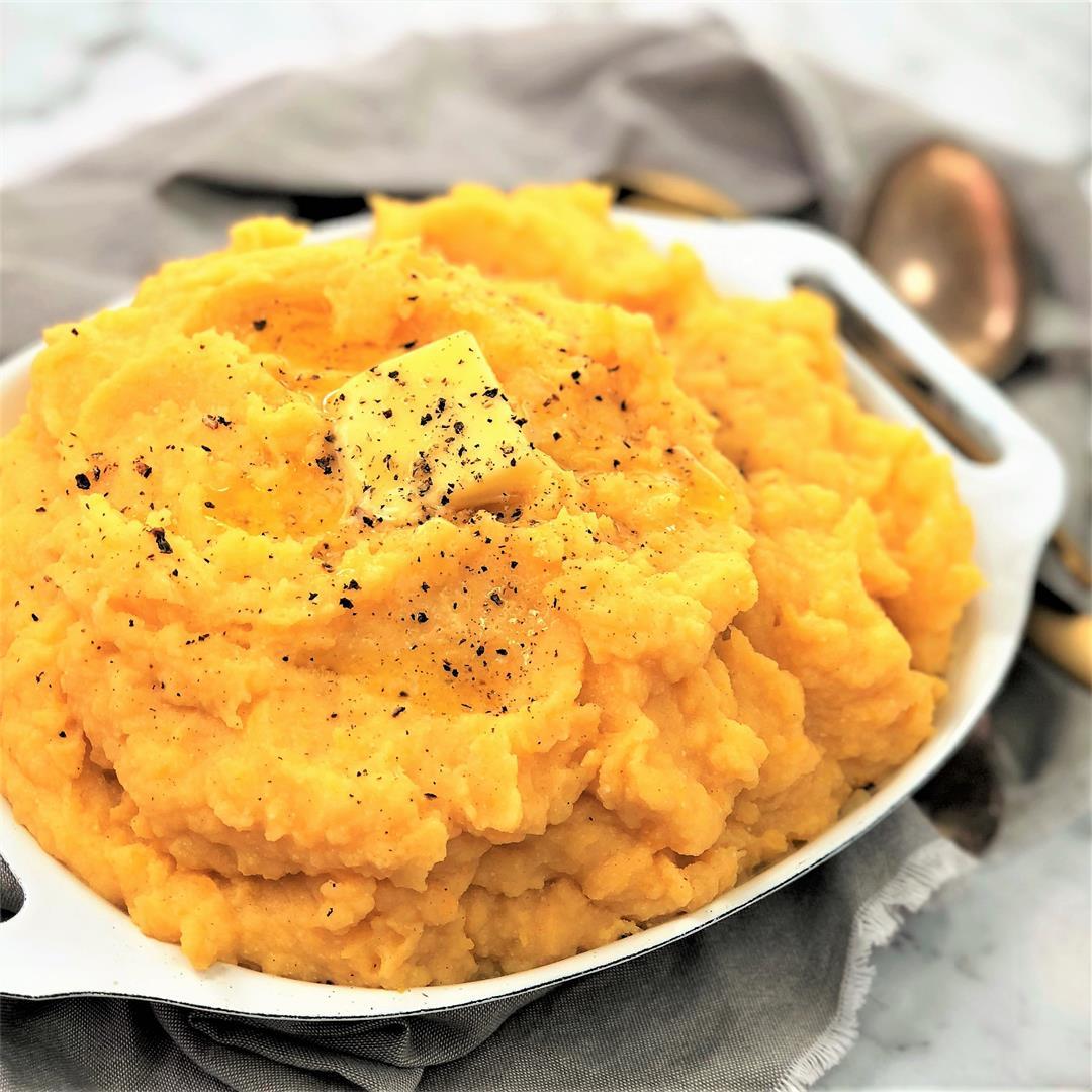 Potato & Pumpkin Ricotta Mash