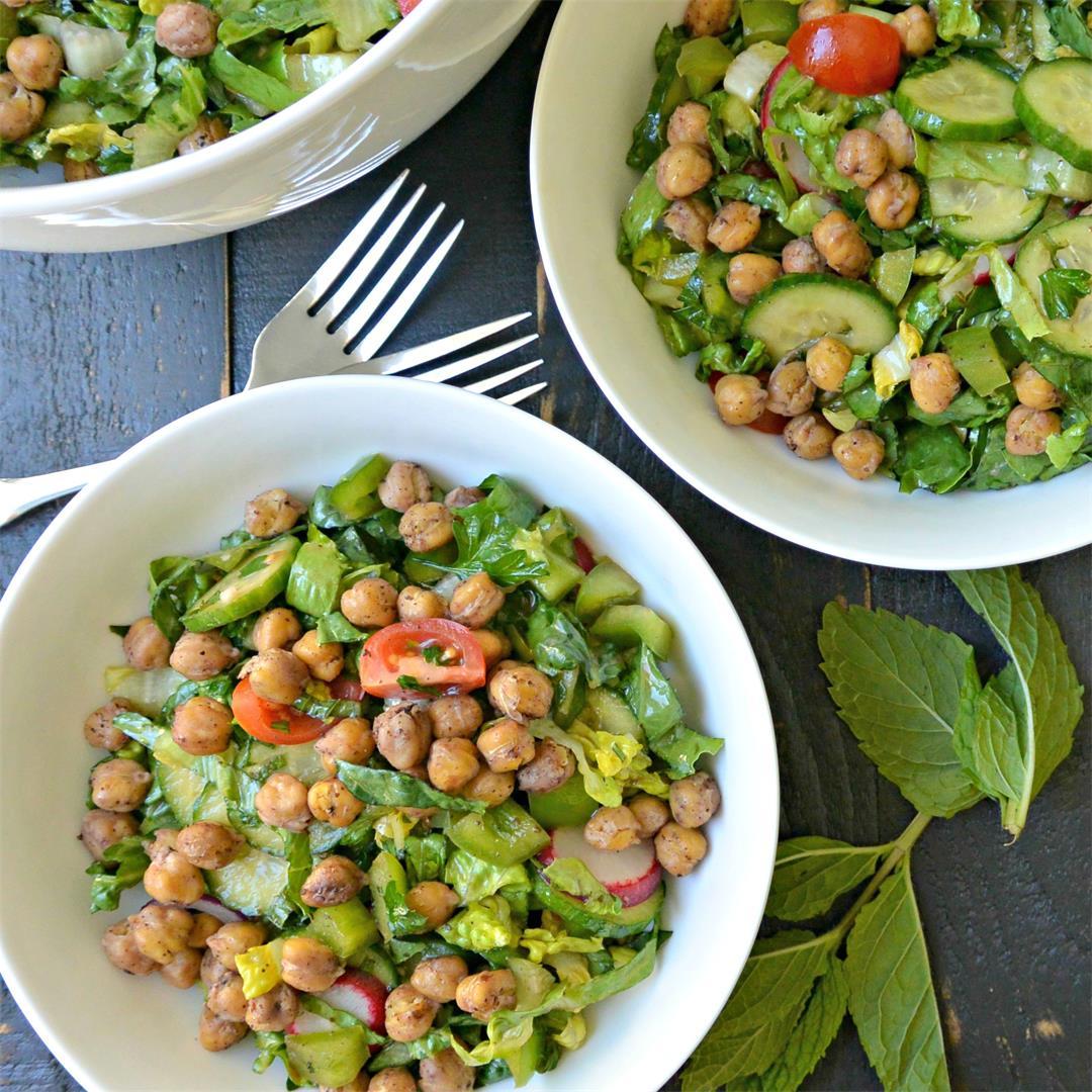 Roasted Chickpea Fattoush Salad