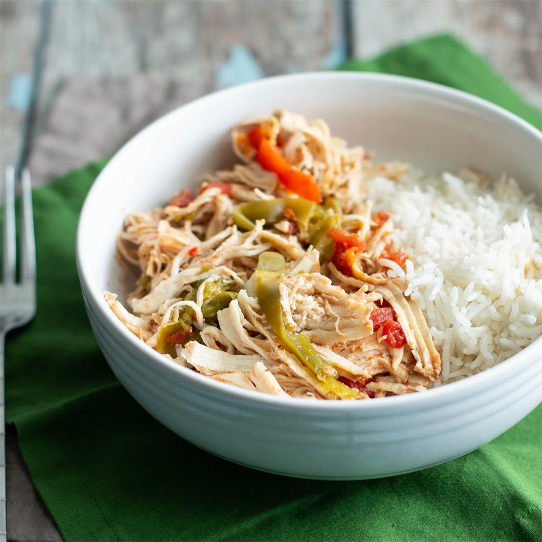 Pressure Cooker Chicken Ropa Vieja