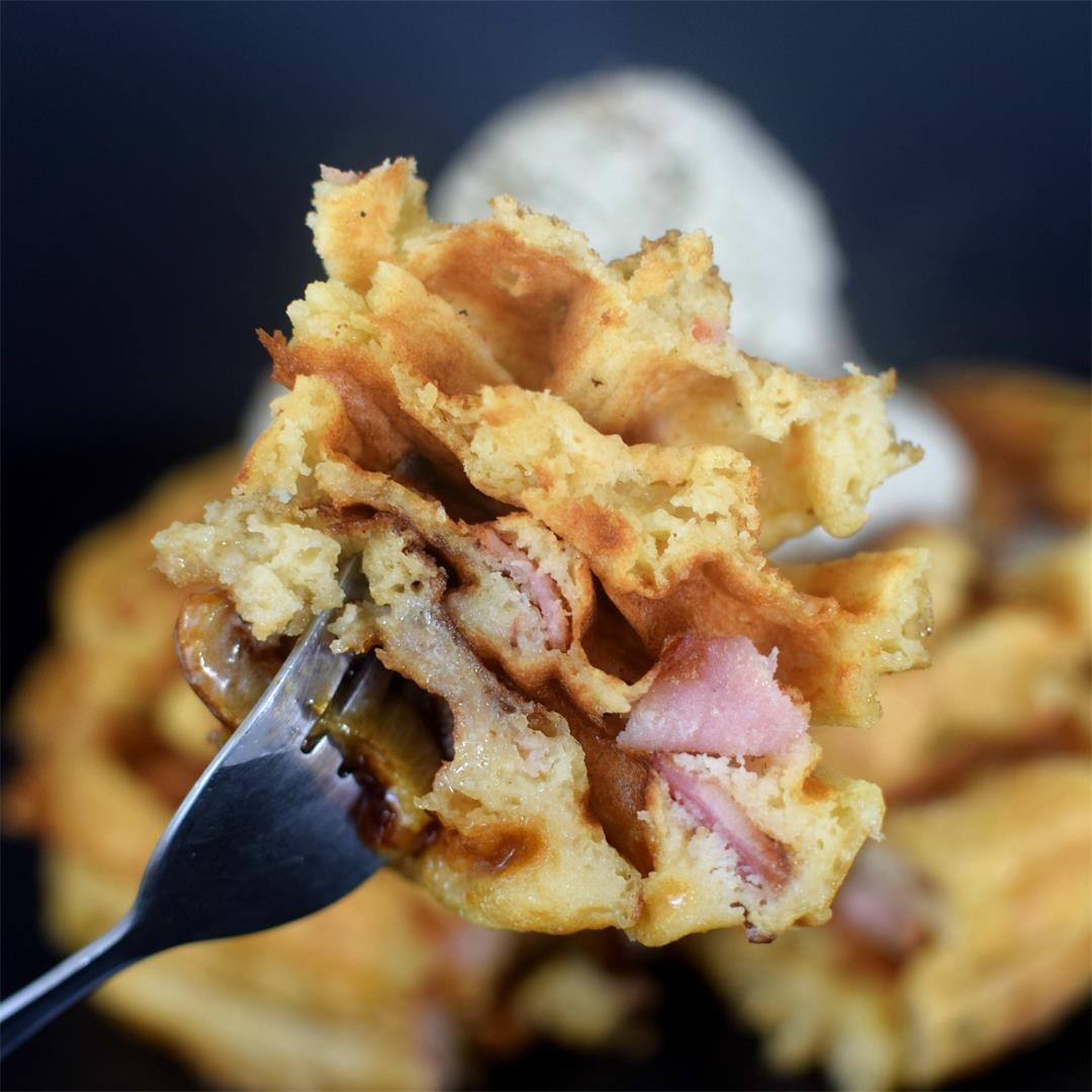 Bacon Waffles with Maple Bacon Ice-cream