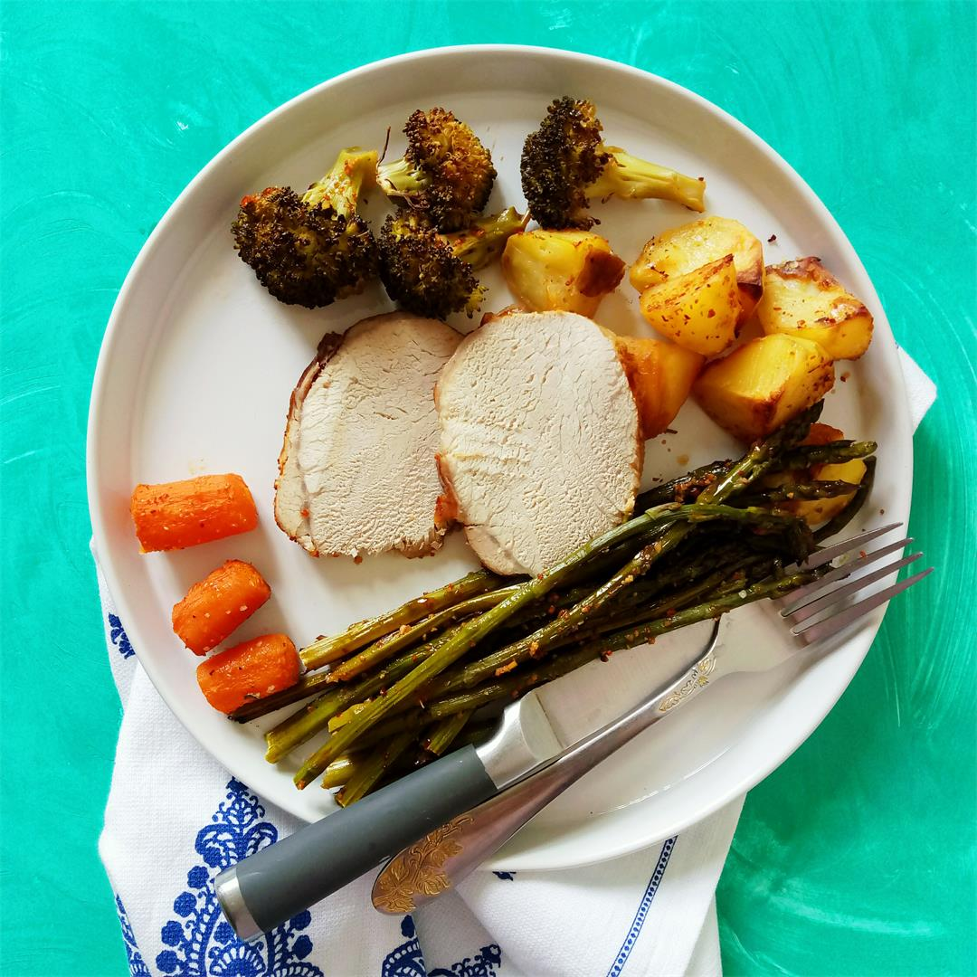 SHEET PAN DINNER – Pork Loin and Veggies