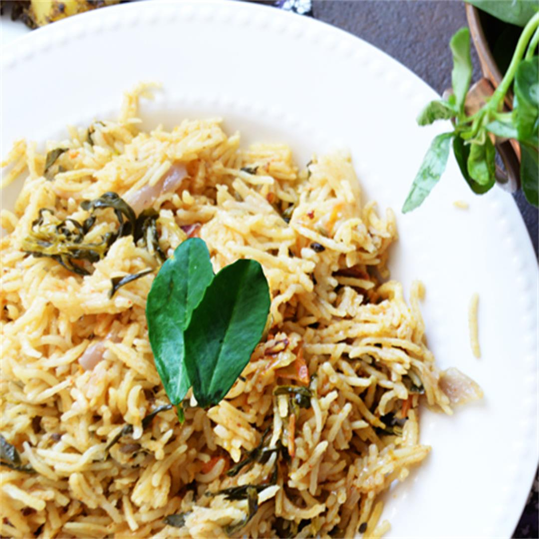 Fenugreek leaves Rice-Methi Biryanni