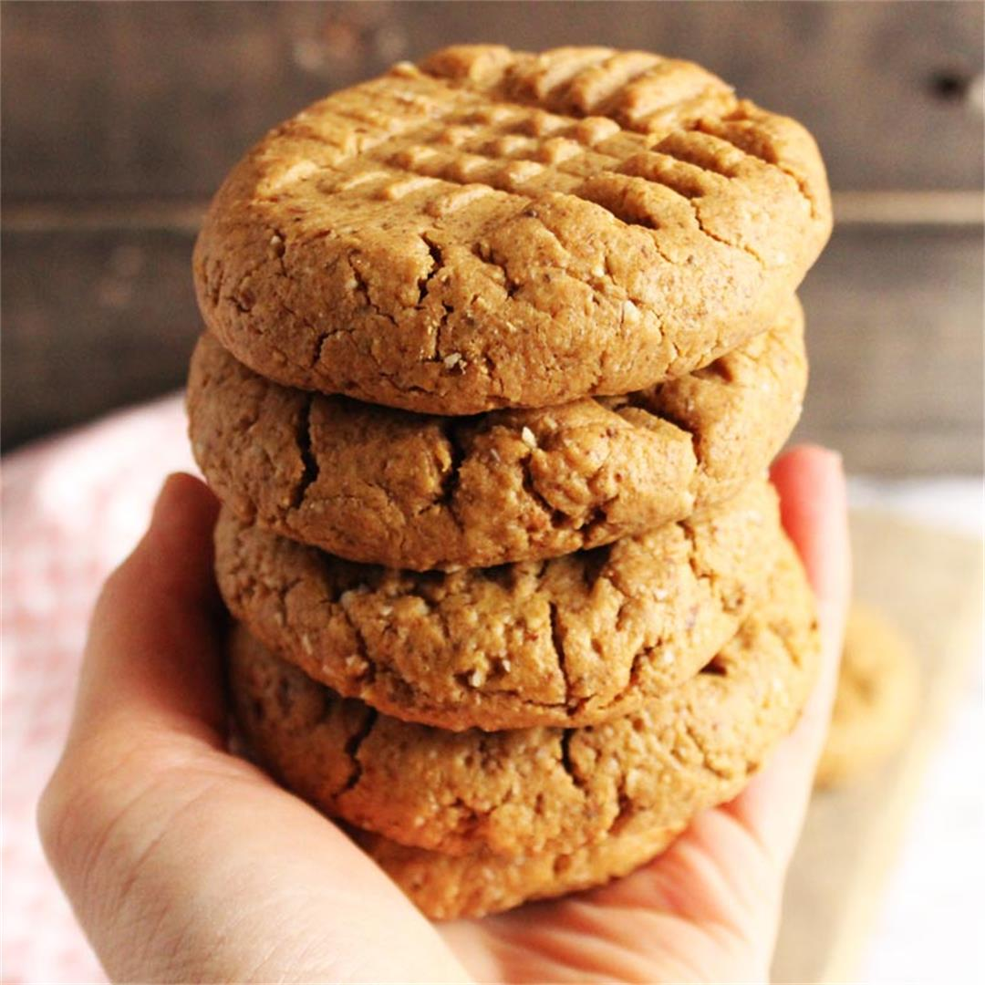 One Bowl, Grain-Free Peanut Butter Cookies