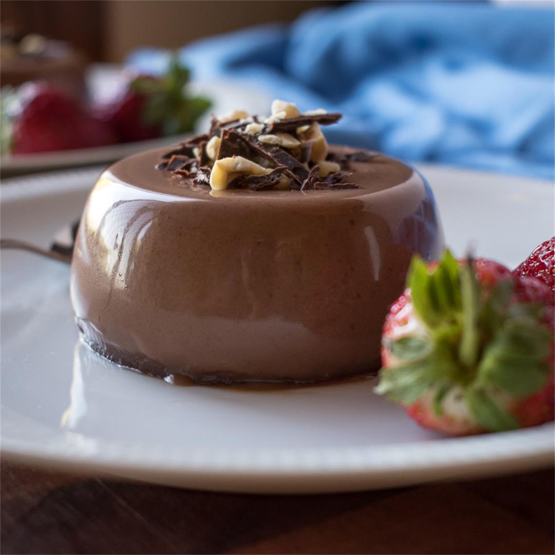 Nutella Panna Cotta - the perfect end to a meal!