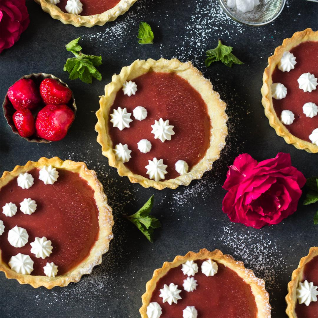 Strawberry Rhubarb Tartlets