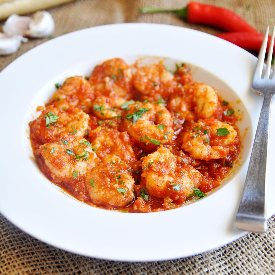 Seared Shrimp with Spicy Tomato Sauce