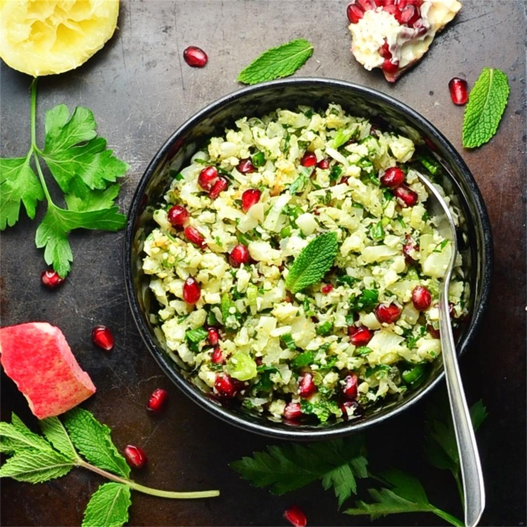Cauliflower Tabbouleh with Pomegranate