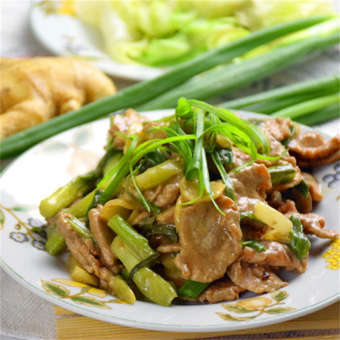 important tips) Beef stir-fry with ginger and scallion