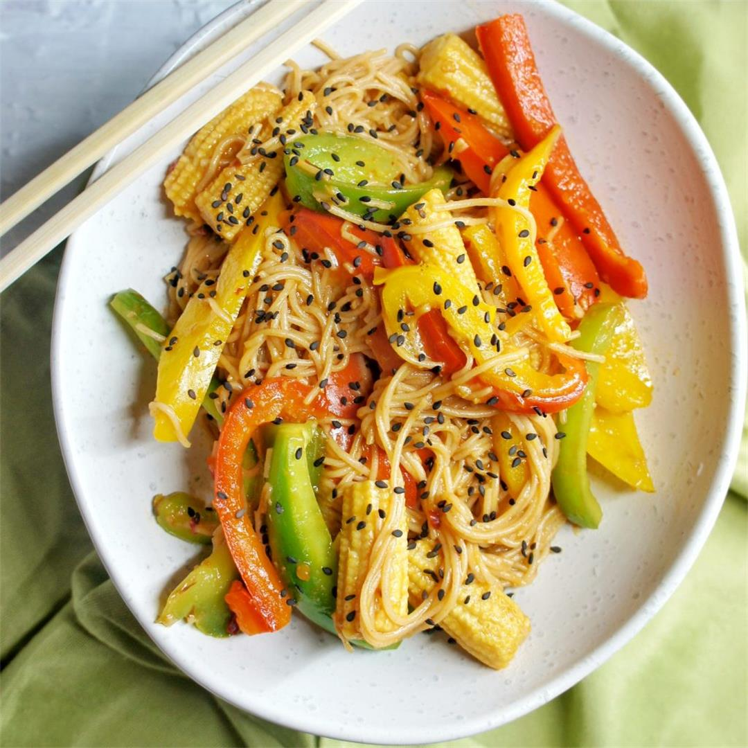 Meatless Monday Vegan Noodles