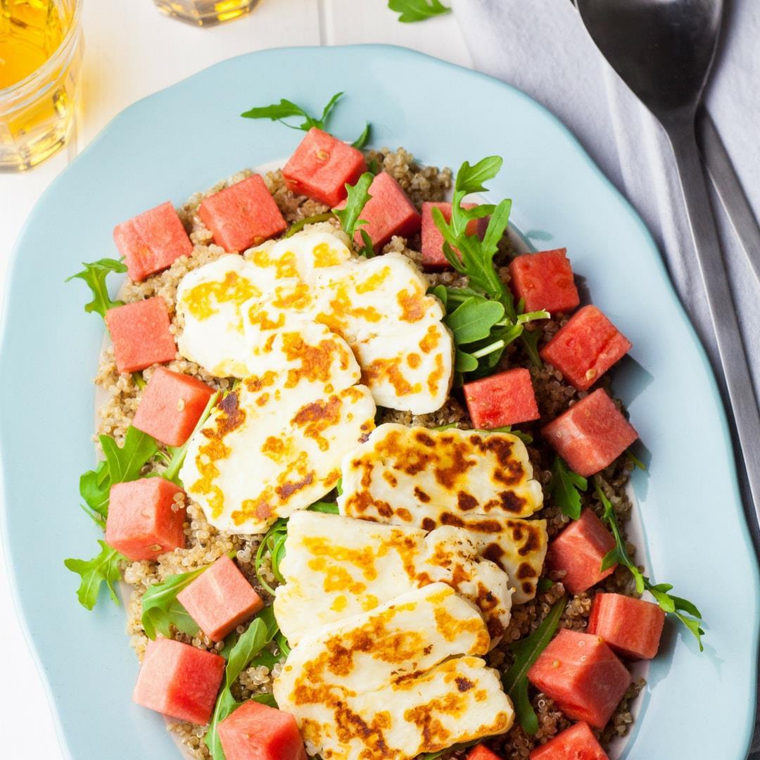 Watermelon, Halloumi and Quinoa Salad