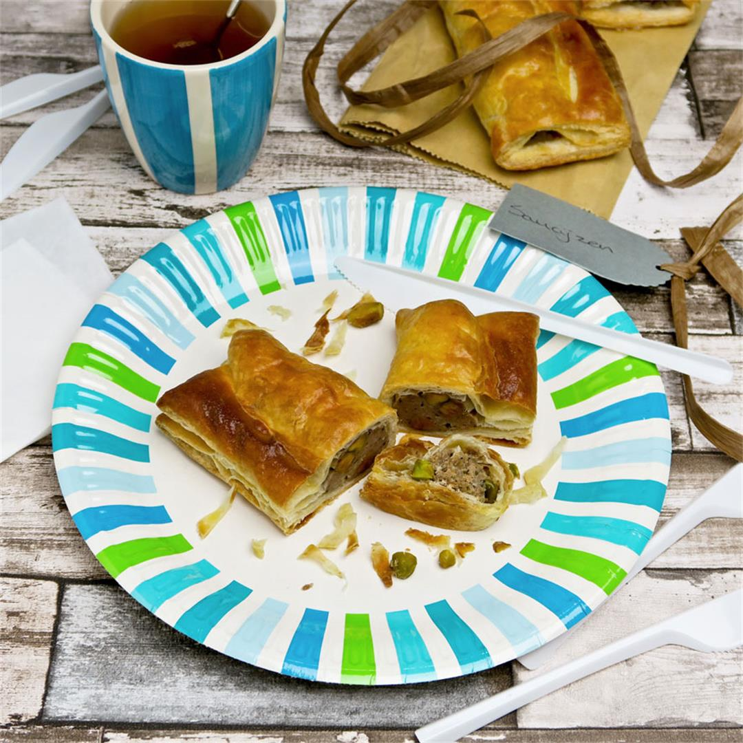 Pack these veal and pistachio sausage rolls for your picnic!
