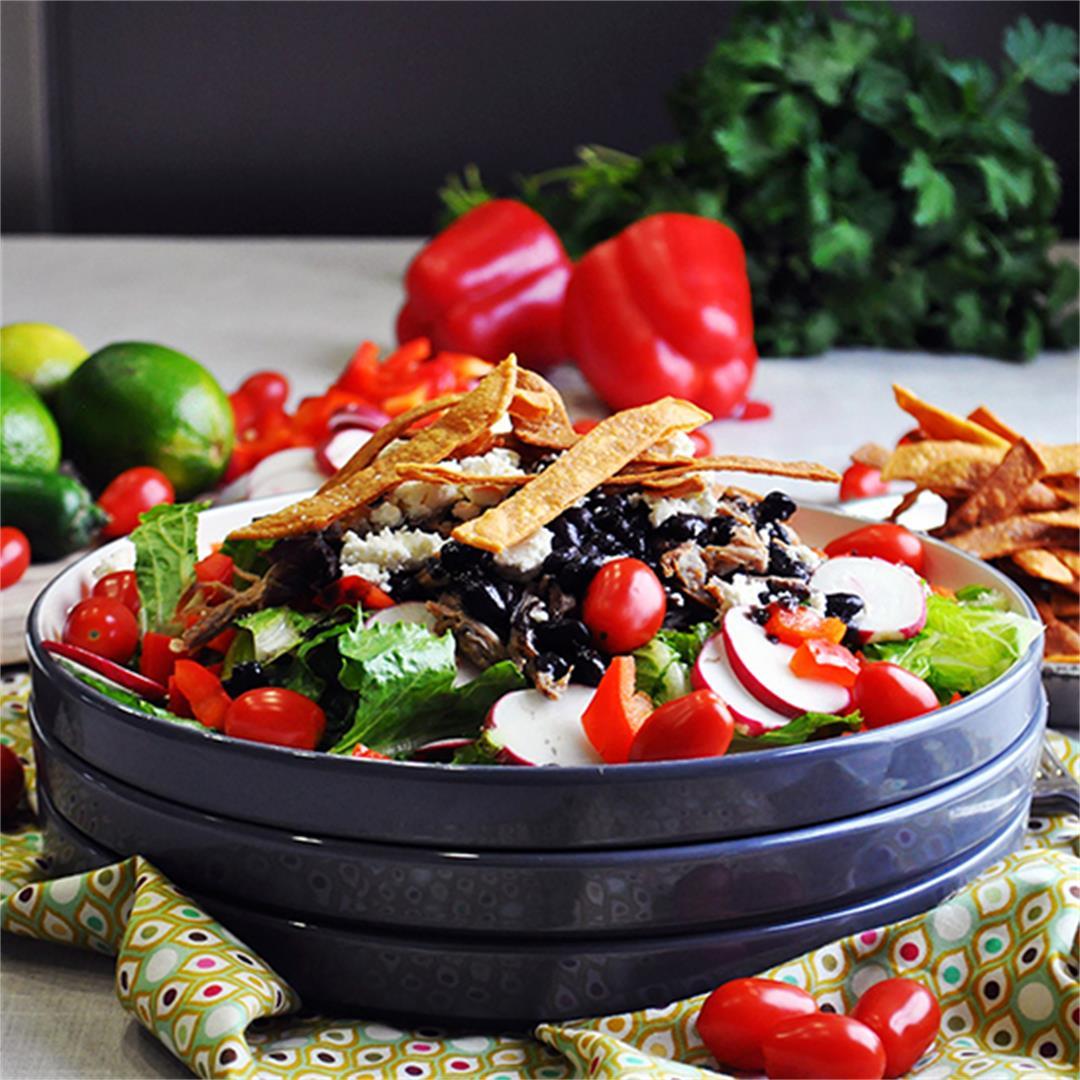 Pork Carnitas Taco Salad
