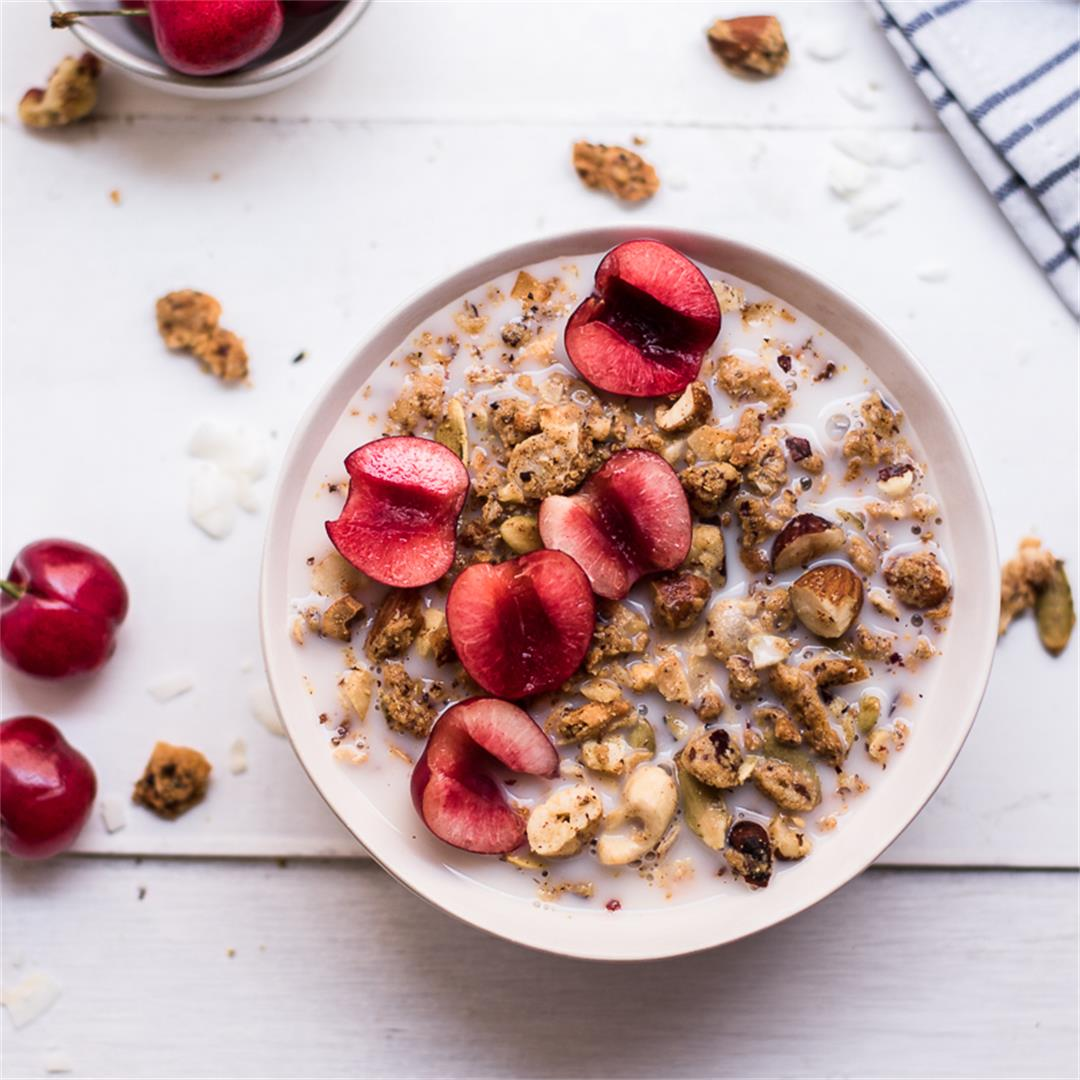 Paleo, grain free and keto friendly granola