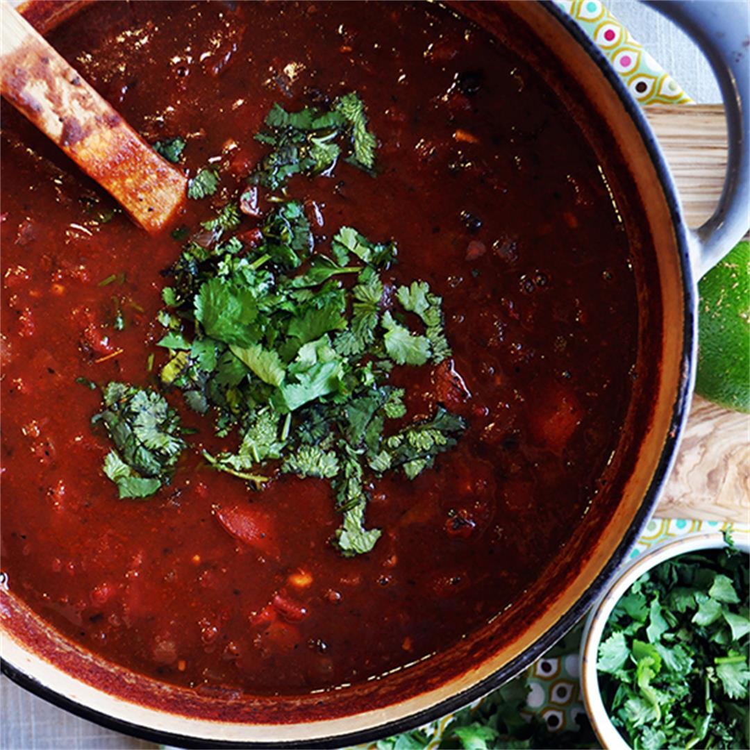 Vegetarian Black Bean and Tomato Soup
