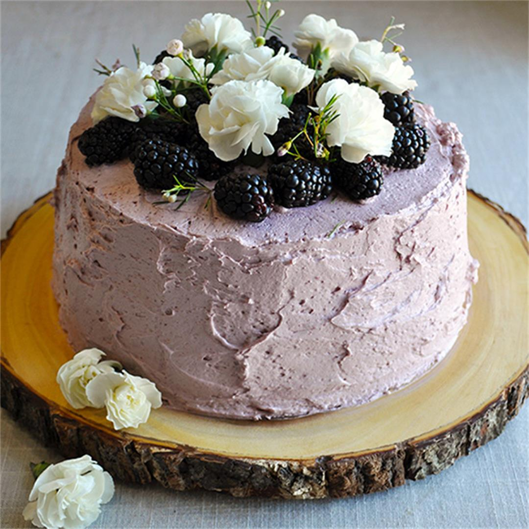 Lemon Blackberry Layer Cake