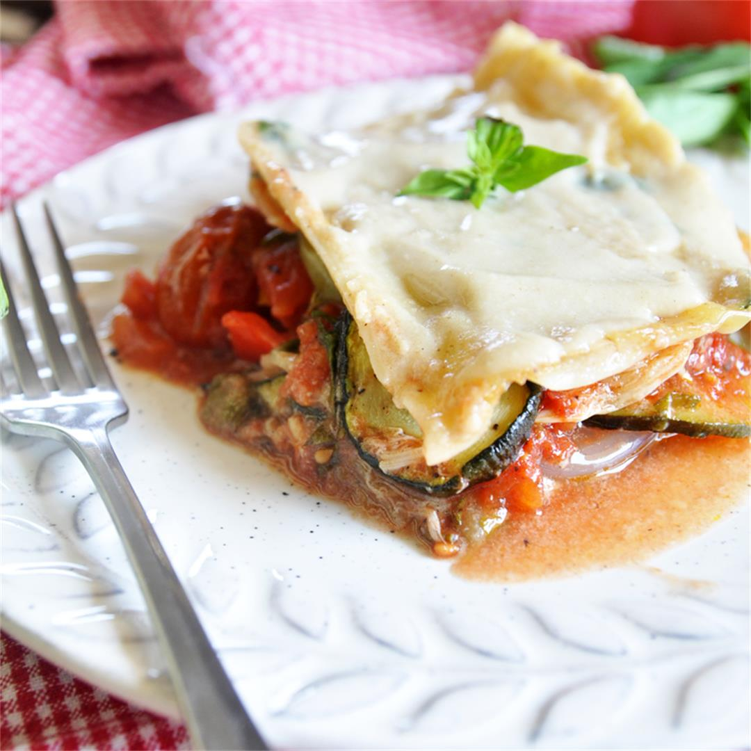 Mediterranean  Vegetable Lasagna with Vegan Bechamel Sauce