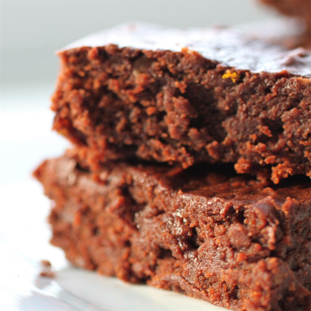 Orange Chocolate Brownies (Vegan)
