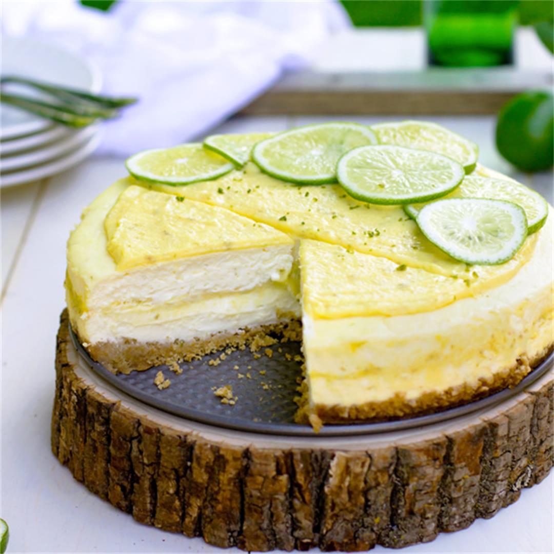 Key Lime Ribbon Cheesecake