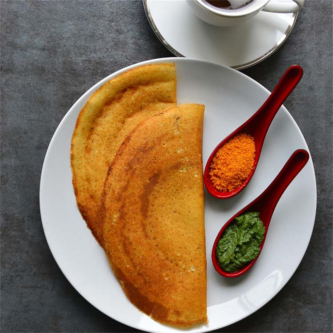 South Inian  Savory  Crepes -  Dosa