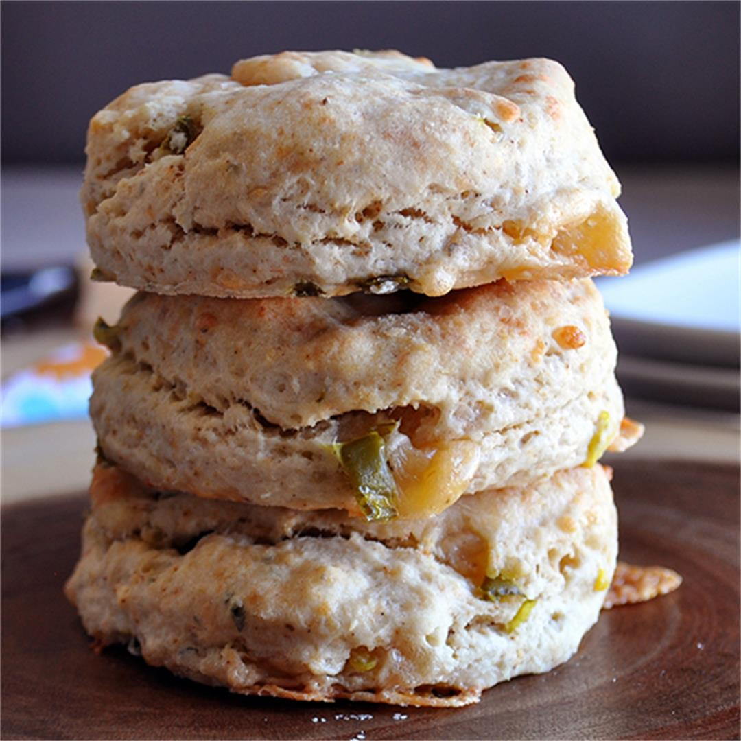 Smoked Gouda and Bacon Jalepeno Biscuits