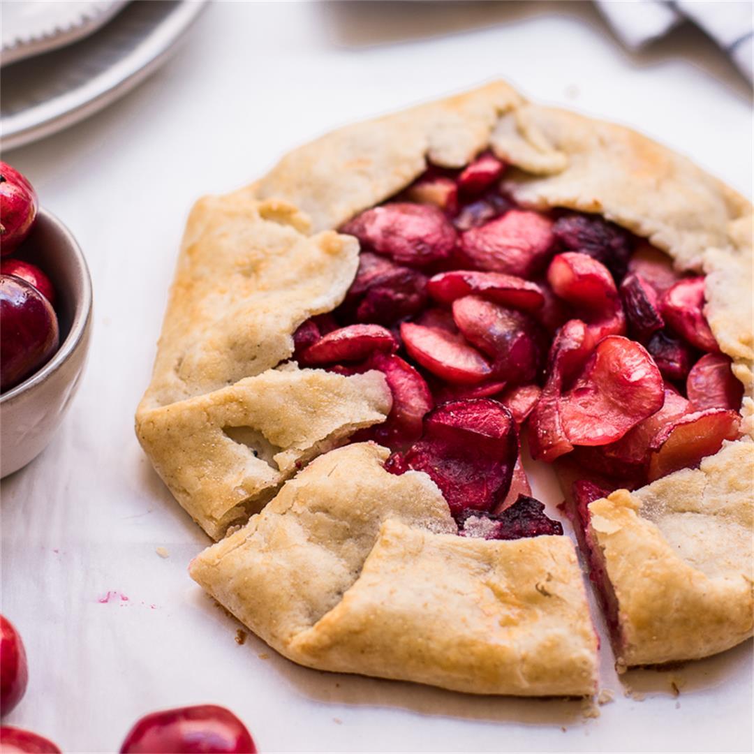 Gluten Free Rustic Cherry Galette