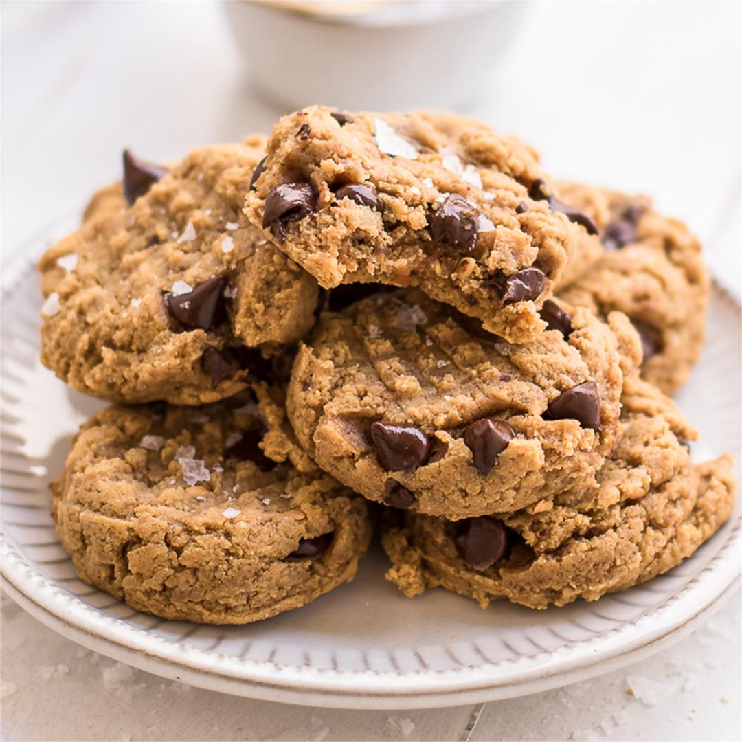 Healthy Soft and Chewy Peanut Butter Cookies