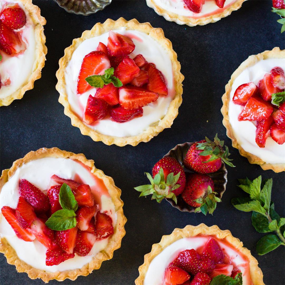Strawberry Cream Cheese Tartlets