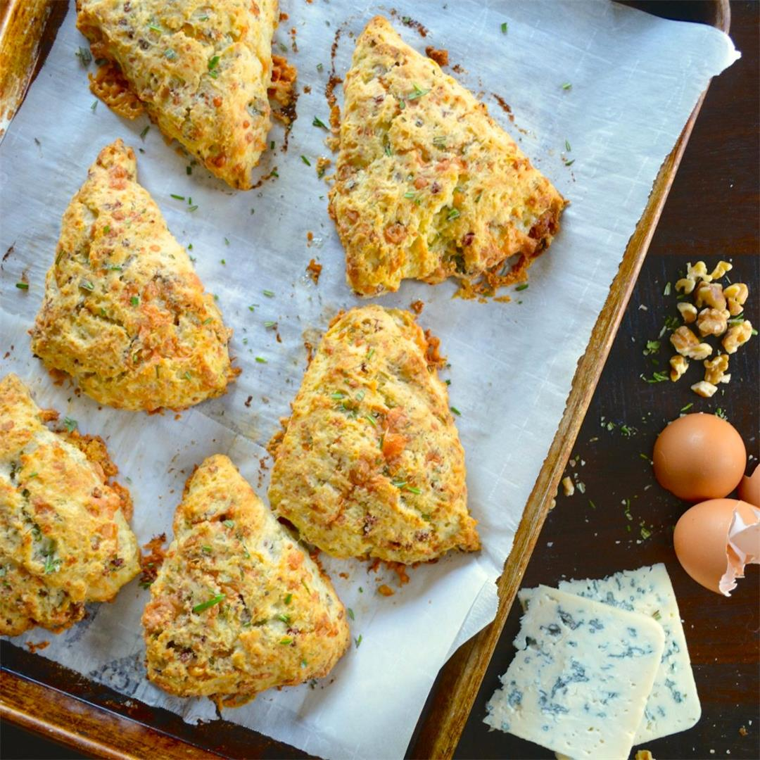 Rosemary Blue Cheese Scones with Walnuts & Pancetta