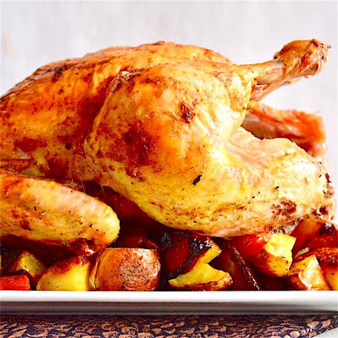 Curried Roasted Chicken and Vegetables