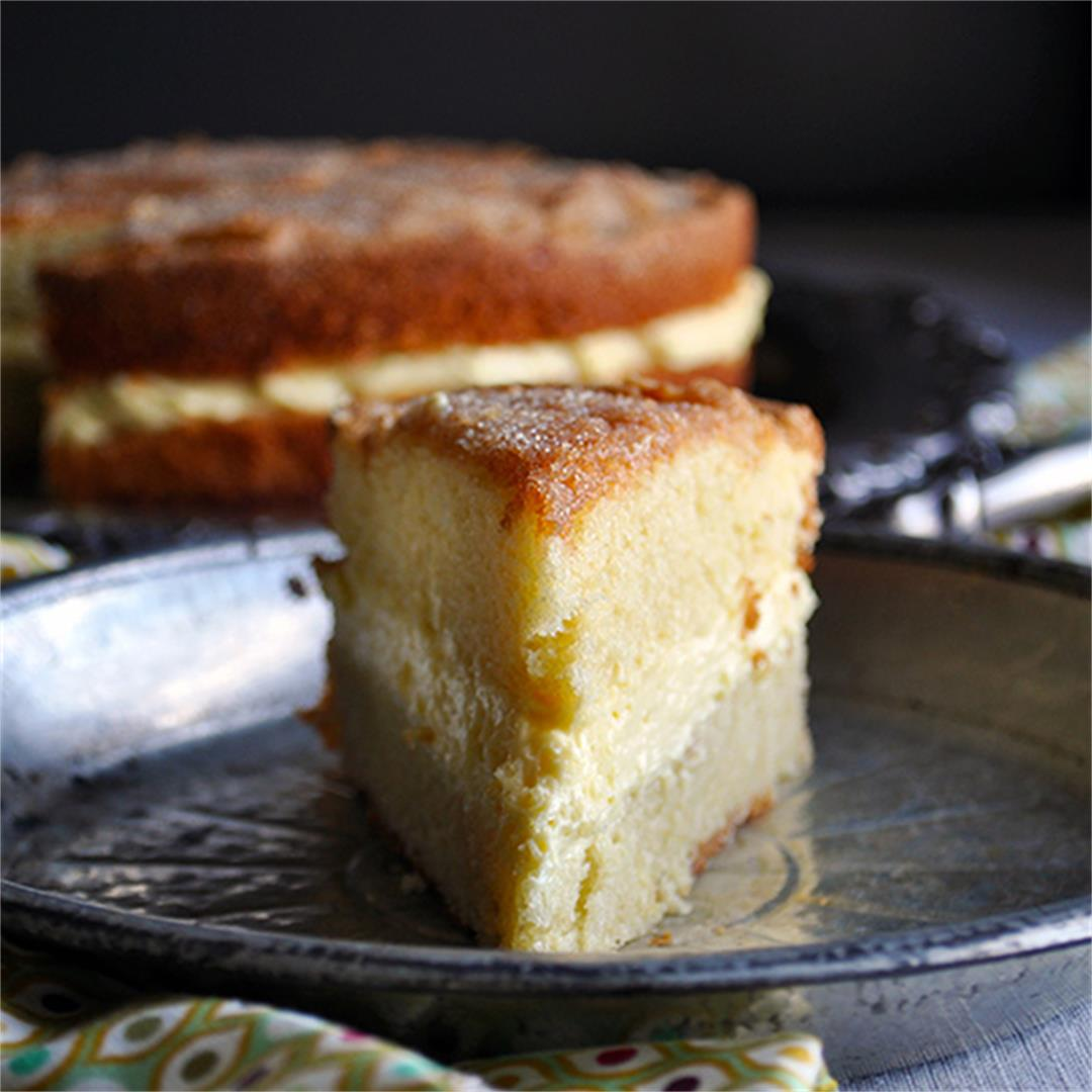 Olive Oil Cake with Mascarpone Cream