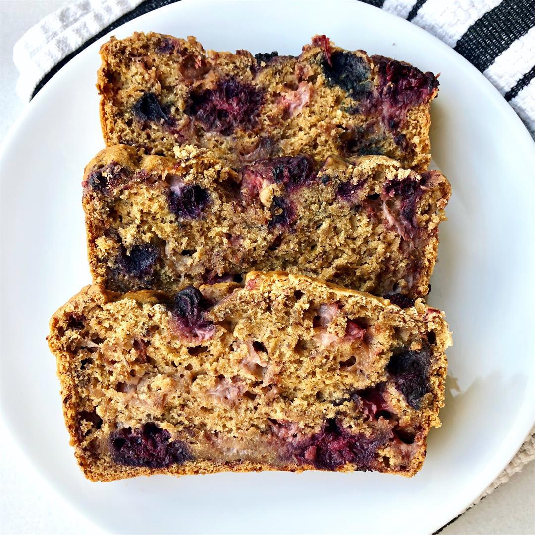 Vegan Triple Berry Bread