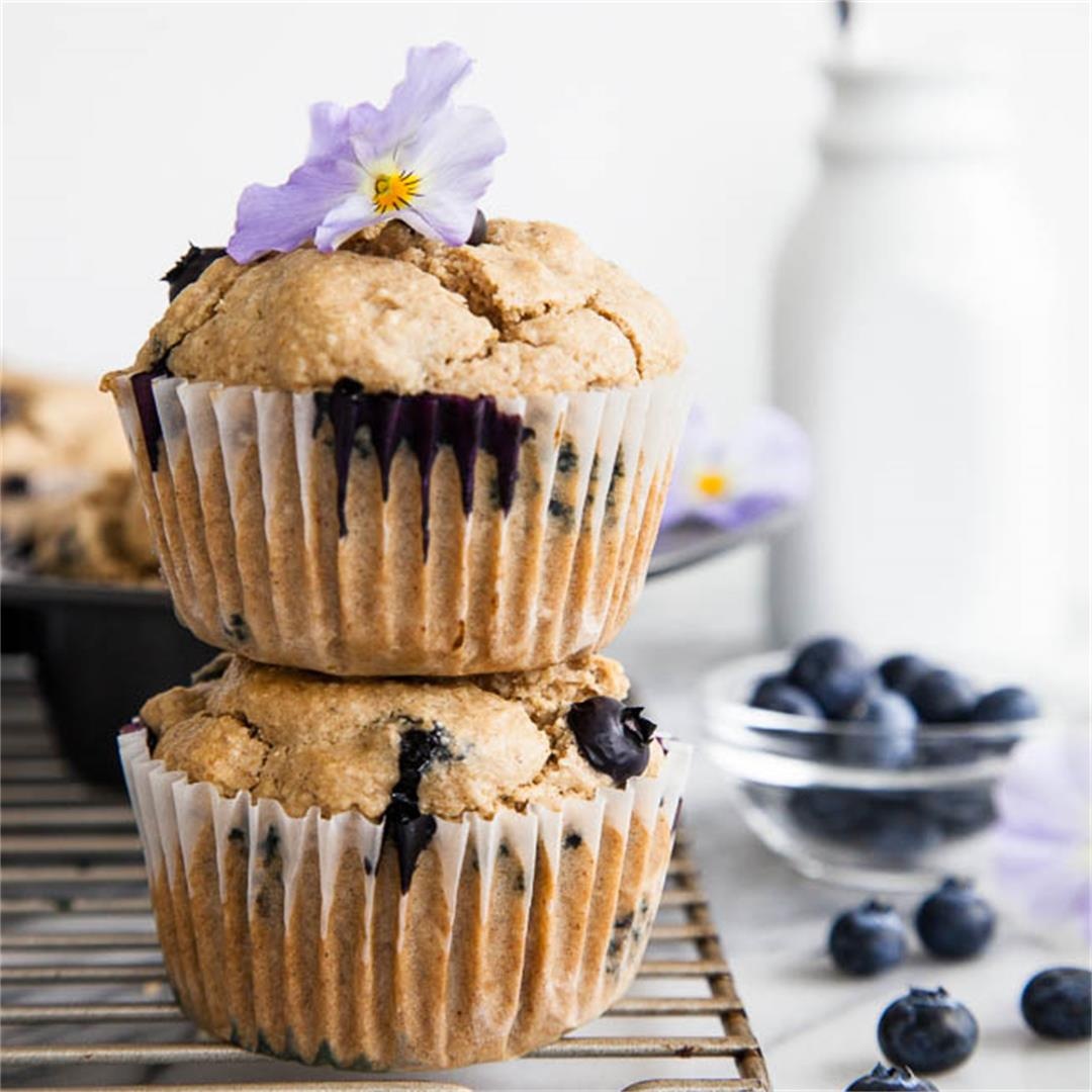 Blueberry Cardamom Blender Muffins
