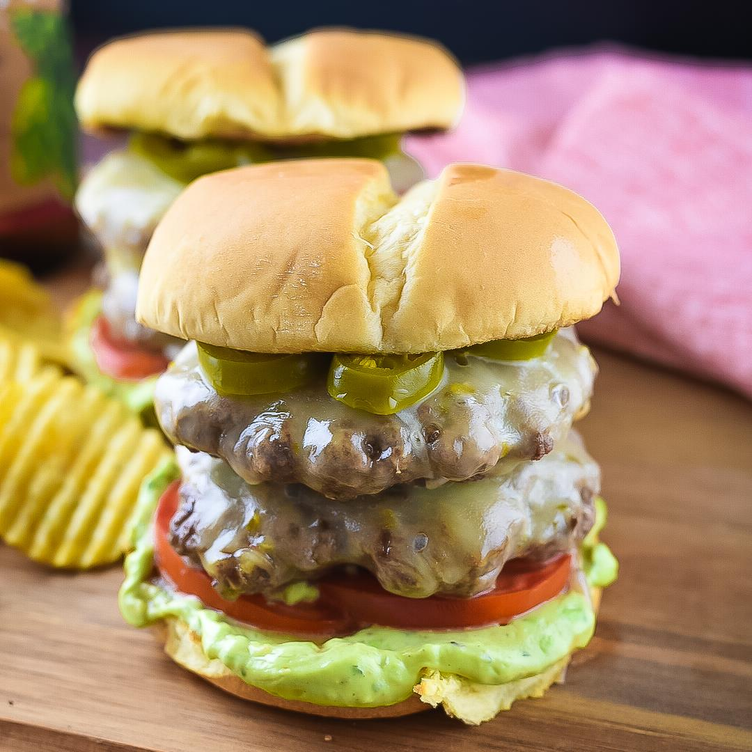 Spicy Jalapeño Double Cheese Burger