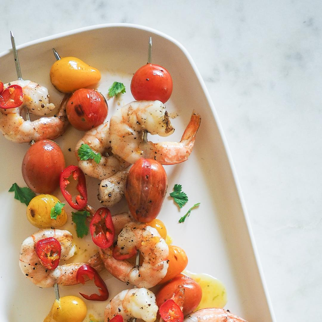 Grilled Shrimp with Citrus Chili Vinaigrette
