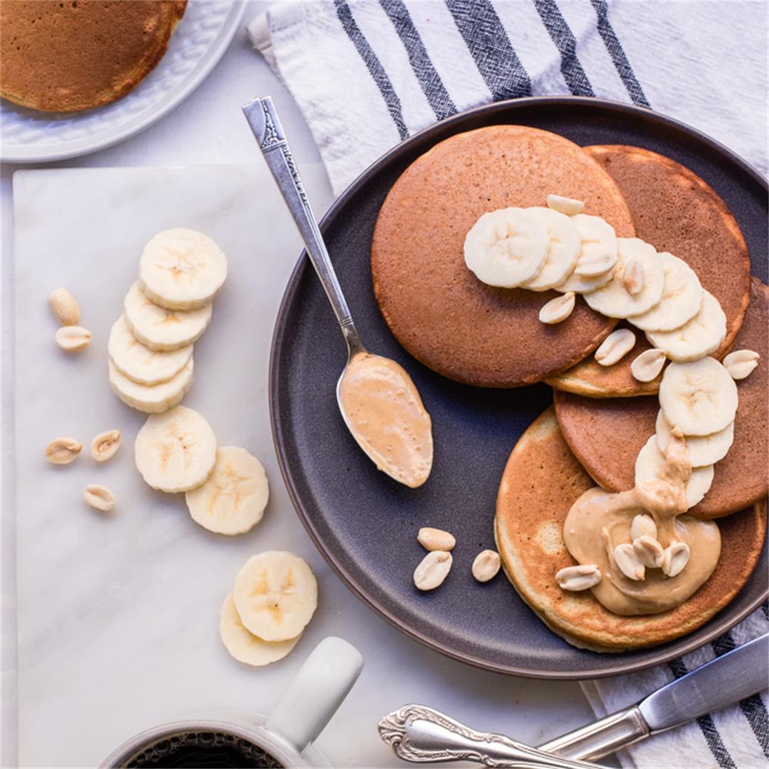 Healthy Peanut Butter Pancakes