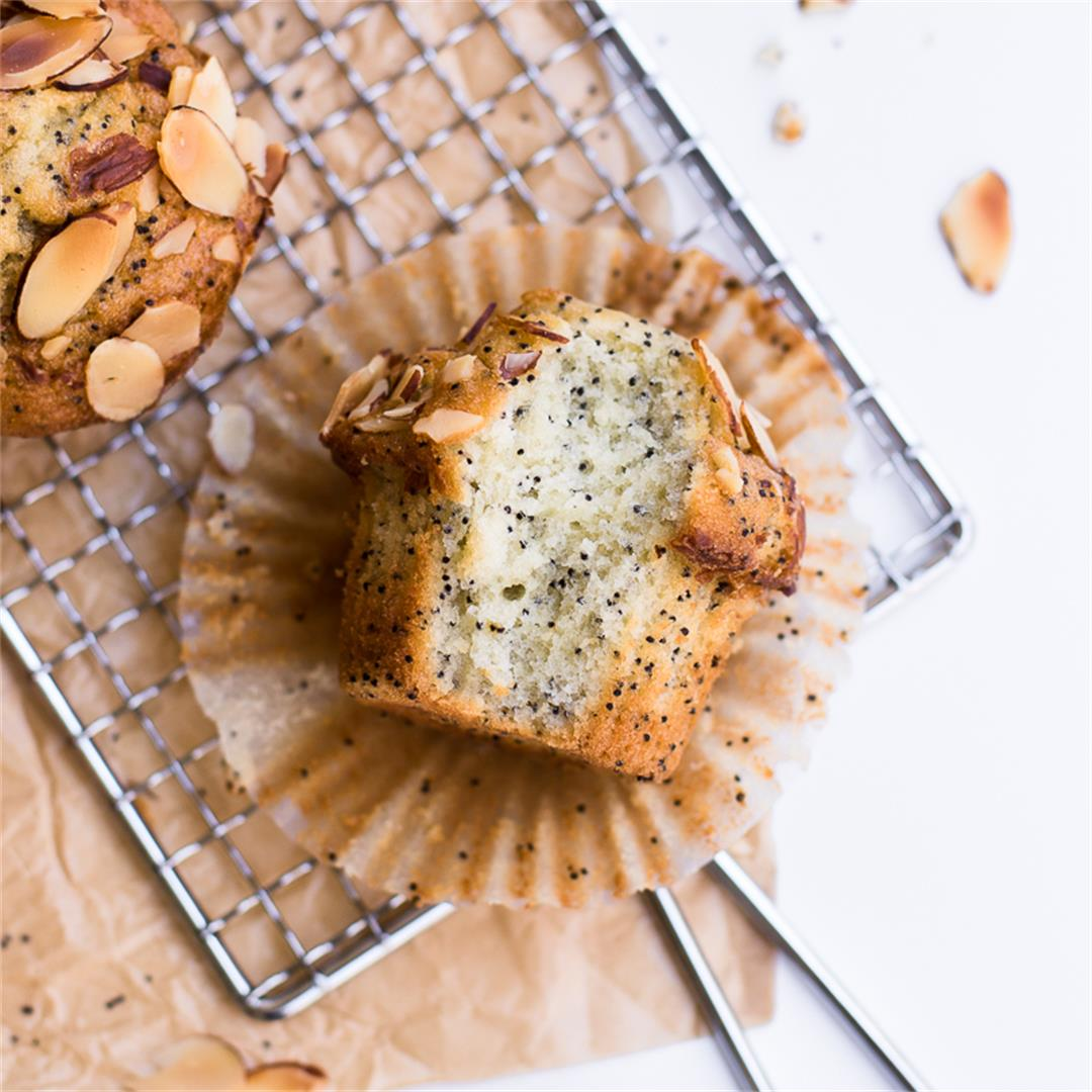 Healthy Almond Poppy Seed Muffins