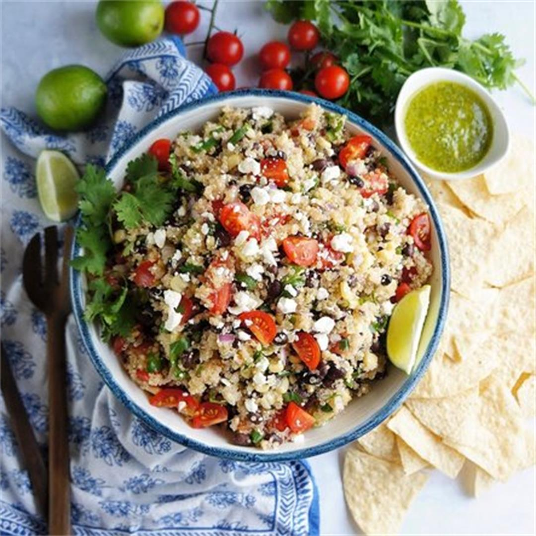 Quinoa Avocado and Black Bean Salad